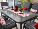Scatter cushions & table runner reversible Coolum Lobster/Kona Lobster
