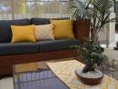Scatter cushions & table runner reversible Coolum Sunshine/Kona Sunshine
